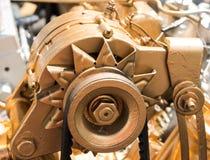 Car alternator, Converting Mechanical Energy to Electrical Energ Stock Image