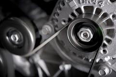 Car Alternator. Converting Mechanical Energy to Electrical Energy Inside a Car stock photos