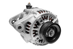 Car alternator on a white background Stock Images