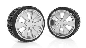 Car aluminum alloy rims with tires Stock Image
