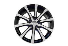 Car aluminum rim Stock Image