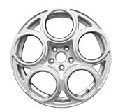 Car aluminum wheel isolated Royalty Free Stock Photo