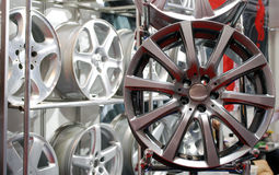 Car aluminum wheel rim Stock Photos