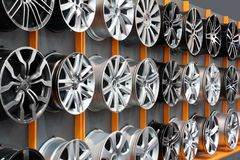 Car aluminum wheel rim Stock Photography