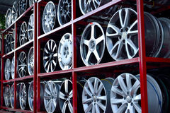 Car aluminum wheel rim Royalty Free Stock Photos