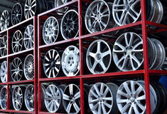 Car aluminum wheel rim Royalty Free Stock Image