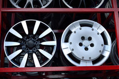 Car aluminum wheel rim Stock Image