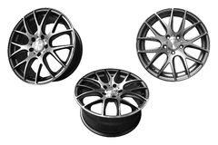 Car aluminum wheel rims Stock Photo