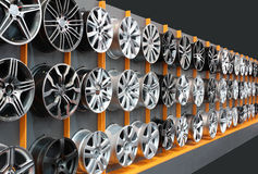 Car aluminum wheels Stock Photos