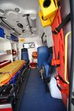 Car ambulance space. Inside of car ambulance space Royalty Free Stock Photography