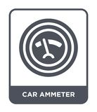 car ammeter icon in trendy design style. car ammeter icon isolated on white background. car ammeter vector icon simple and modern vector illustration