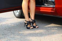 Car&girl Fotografia de Stock