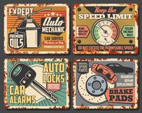 Car And Brake Pad Replacement Auto Service Stock Images