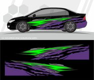 Free Car And Vehicles Wrap Decal Graphics Kit  Designs. Ready To Print And Cut For Vinyl Stickers. Stock Images - 107204374