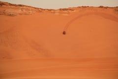 Car in arabian desert. Car in desert safari, United Arab Emirates stock images