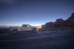 Car in Arches National Park Royalty Free Stock Photography