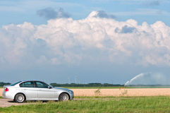 Car and argriculture, Holland Stock Image
