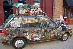 Car art exhibit. This is an art prize exhibit in Grand Rapids Michigan Stock Image