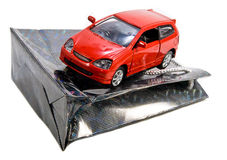 Car as Gift concept Stock Images