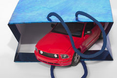 Car as a gift concept Stock Photo