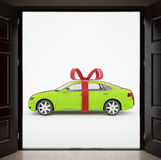 The car as a gift!. 3d illustration. The car as a gift Stock Image