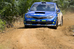 Car in the Asia Pacific Rally  Stock Photos