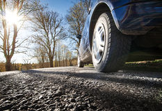 Car on asphalt road Royalty Free Stock Photos