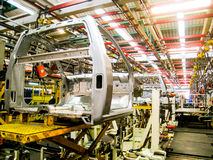 Car assembly line2 stock images