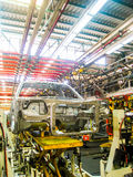 Car assembly line. Cab of Car in process assembly line Royalty Free Stock Photo