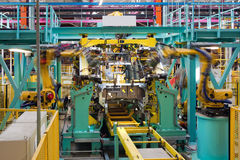 Car assembly line Royalty Free Stock Photography