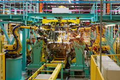 Car assembly line Royalty Free Stock Photos