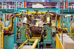Car assembly line Royalty Free Stock Image
