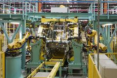 Car assembly line Stock Images