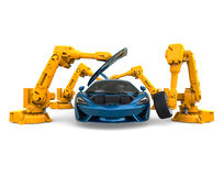 Car Assembly Robots Royalty Free Stock Photo