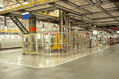 Car assembly shop and assembly line Stock Photography