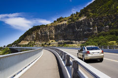 Car Au cliff road Stock Image