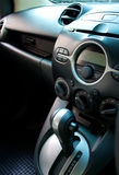Car audio and air conditioning control panel Stock Photo