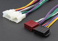Car audio cable adapter Royalty Free Stock Images