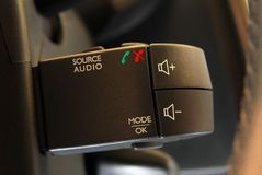 Car audio control buttons Stock Photography