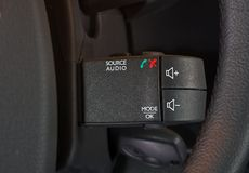 Car audio control buttons Royalty Free Stock Photography