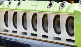 Car Audio Show. Car Audio Show systems Installation royalty free stock images