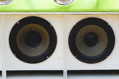 Car Audio. Show systems Installation royalty free stock photo