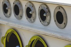 Car Audio. Car Audio Show systems Installation royalty free stock image