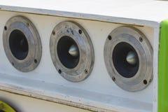Car Audio. Car Audio Show systems Installation stock photo