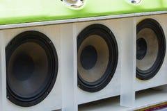 Car Audio. Car Audio Show systems Installation royalty free stock photo