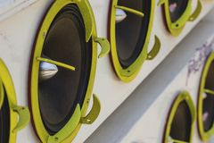 Car Audio. Car Audio Show systems Installation royalty free stock photography