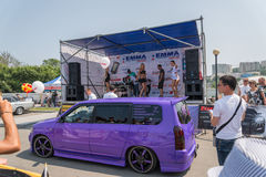 Car audio show. Royalty Free Stock Image