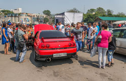 Car audio show. Royalty Free Stock Images