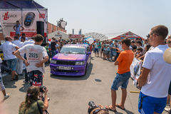 Car audio show. Stock Photo