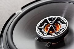 Car audio with speakers stock image